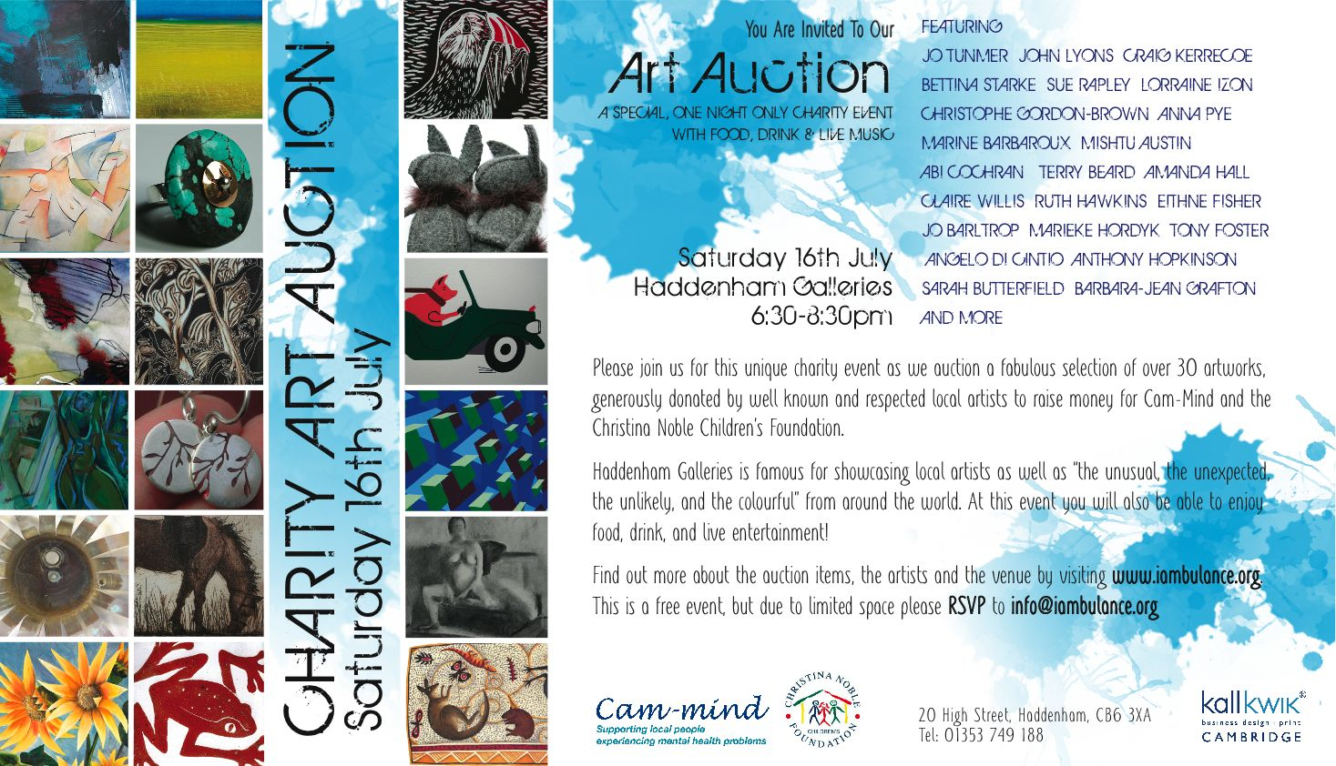 Charity Art Auction at Haddenham Galleries