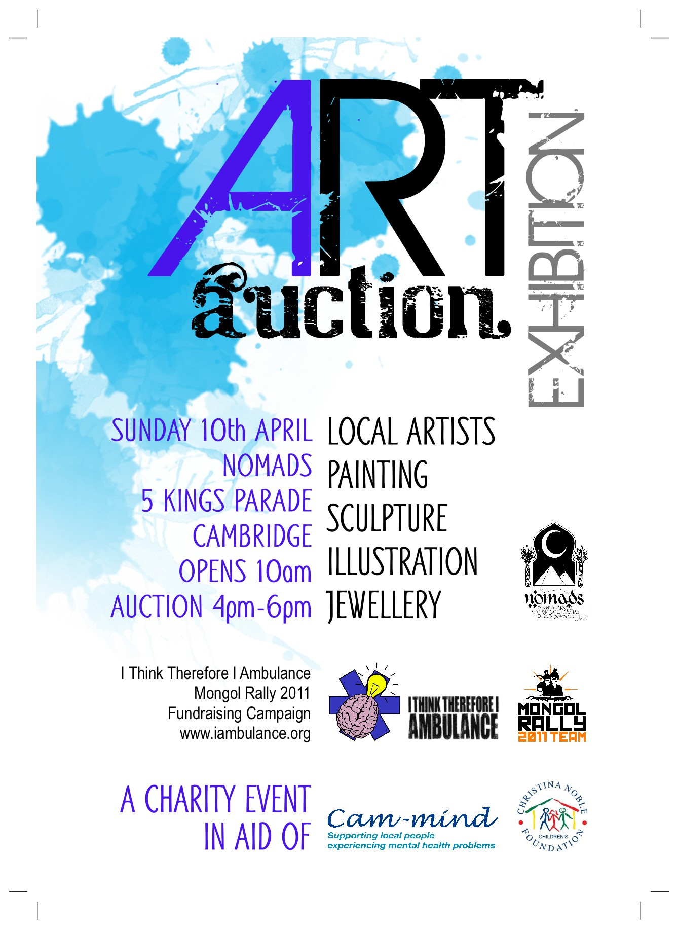 Charity Auction event at Nomads, Cambridge