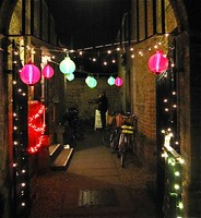 Entrance to The Unitarian Church Hall Christmas 10 show 2009
