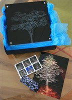 Perspex sgraffio etching - a great gift idea