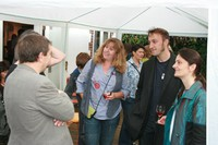 Jo greeting guests at private party July 2011